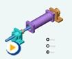 液压动画---双出杆缸拆装