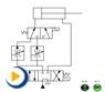 液压动画---调速阀并联的速度换接回路