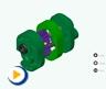 液压动画---外啮合齿轮泵