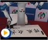 2013安川->博众双臂机器人亚洲首发交付仪式-机器人精彩书法表演