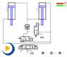液压动画---串联同步回路