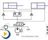 液压动画---分流阀同步回路