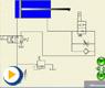 液压动画---行程减速回路